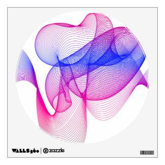 Pink Swirl, Digital Art Room Sticker