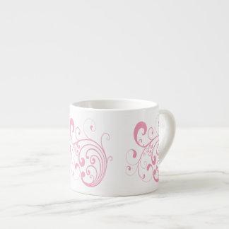 Pink Swirl Espresso Mug 6 Oz Ceramic Espresso Cup