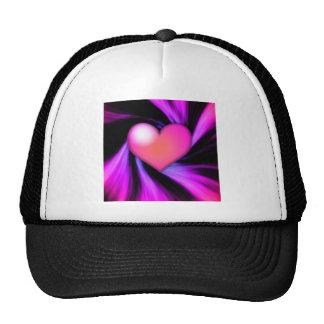 Pink Swirl Heart Hat