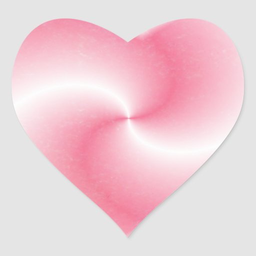 Pink Swirl Heart - Sticker