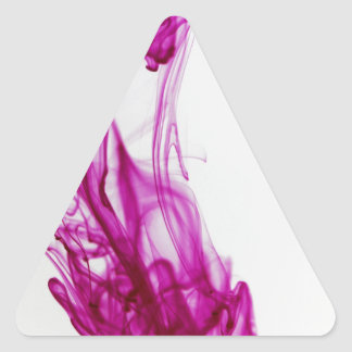 Pink Swirl Ink Drop Photography Triangle Sticker