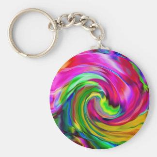 Pink Swirl Keychain