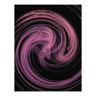 pink swirl letterhead