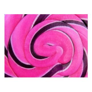 Pink Swirl Lolly Postcard
