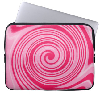 Pink swirl pattern laptop sleeve