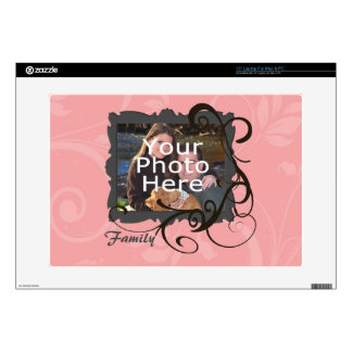 Pink Swirl Photo Frame Custom Laptop Skin