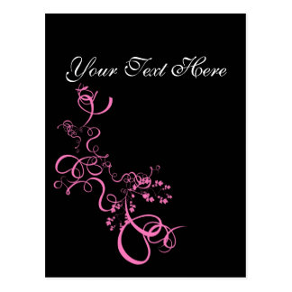 Pink swirl save the date products postcard