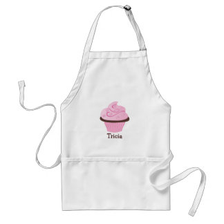 Pink Swirl Sprinkle Cupcake Adult Apron