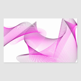 Pink Swirl, Swish Design, Art Rectangular Sticker