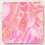 Pink Swirls Art Coaster Set