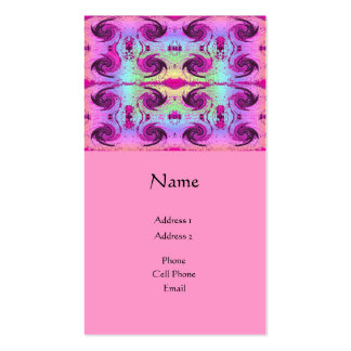 pink swirls business cards