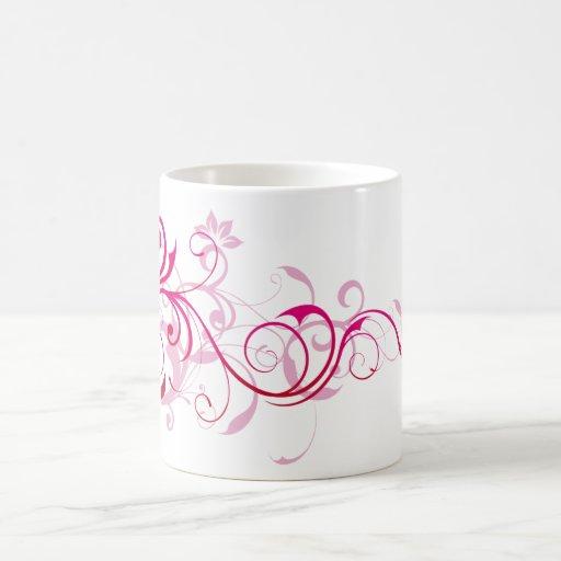 Pink Swirls Classic White Coffee Mug