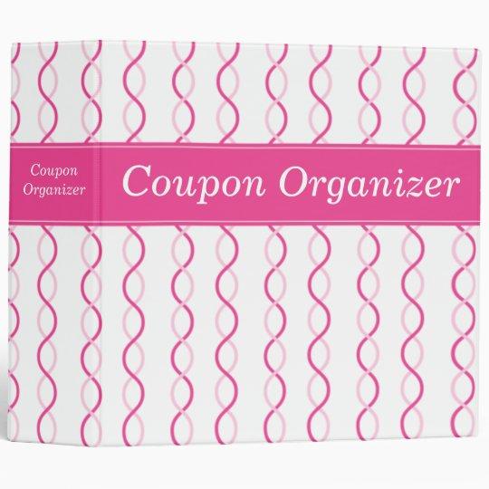 Pink Swirls Coupon Organizer Binder