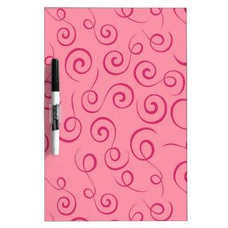 Pink Swirls Dry Erase Board