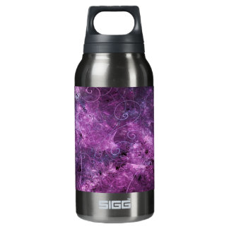Pink Swirls Fractal Insulated Water Bottle