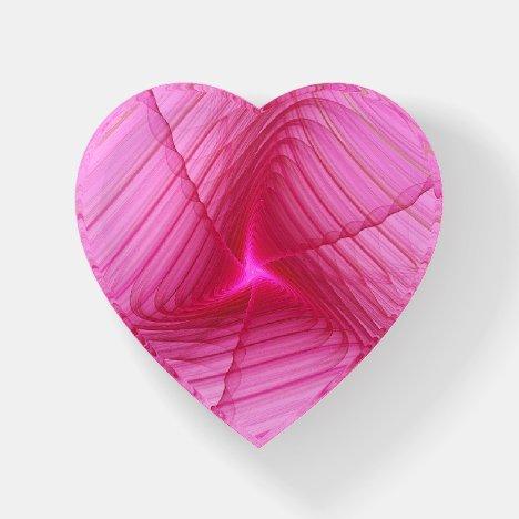 Pink Swirls Fractal Paperweight