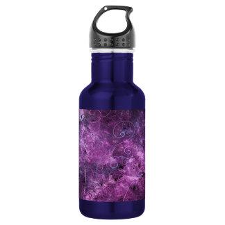 Pink Swirls Fractal Water Bottle