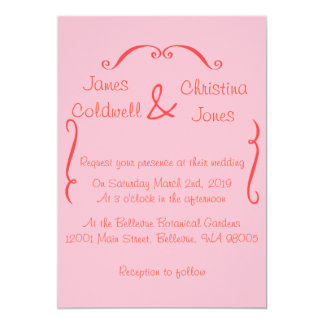 Pink Swirls Invitation