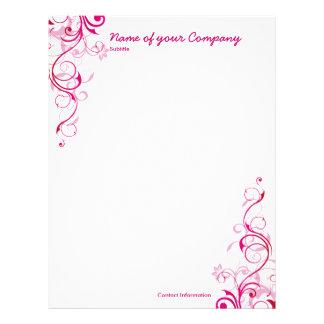 Pink Swirls Letterhead