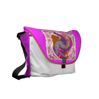 Pink Swirls Messenger Bag