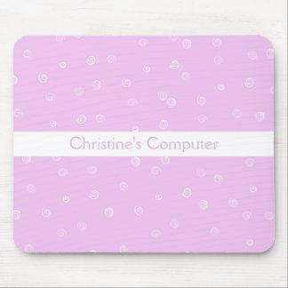 Pink Swirls Mousepad