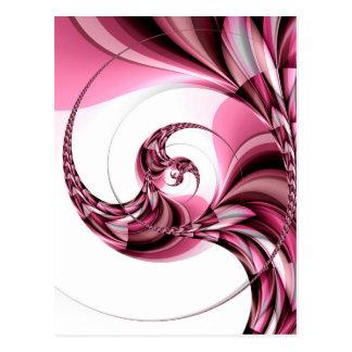 Pink swirls no. 2 created by Tutti Postcard