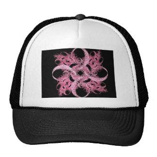 Pink Swirls Star Fractal Abstract Art Gifts Hats