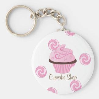 Pink Swirly Cake Keychain