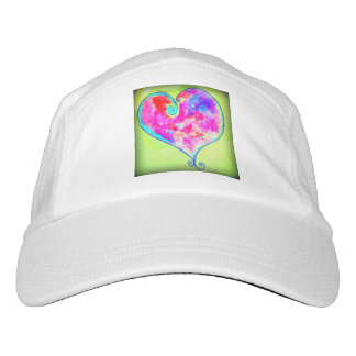 pink swirly heart headsweats hat