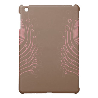 Pink Swirly Peacock Feather iPad Case