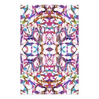 Pink Symmetrical Pattern Stationery
