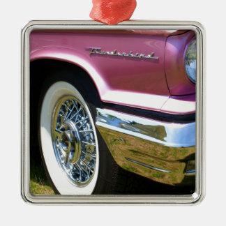 Pink T-Bird Thunderbird Metal Ornament