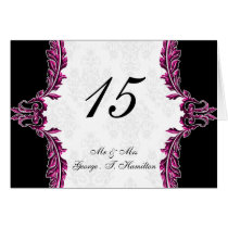pink table seating card