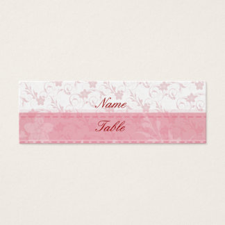 Pink Table Setting Wedding Event Party Mini Business Card