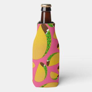 Pink tacos bottle cooler