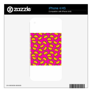 pink tacos iPhone 4S skins
