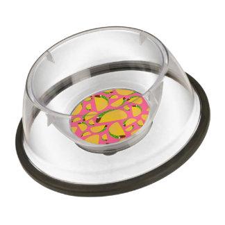 Pink tacos pet bowl