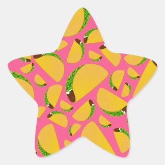 Pink tacos star sticker