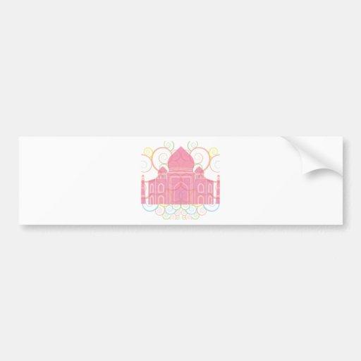 Pink Taj Mahal Bumper Stickers