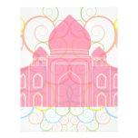 Pink Taj Mahal Customized Letterhead