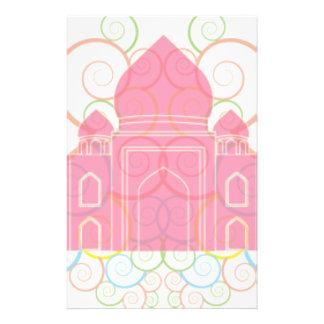 Pink Taj Mahal Stationery Paper
