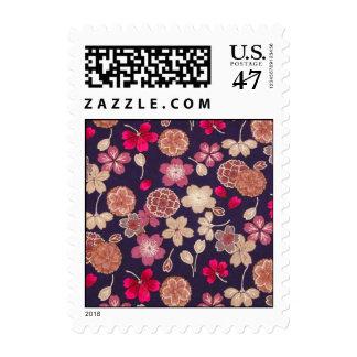 Pink & Tan Flowers Postage
