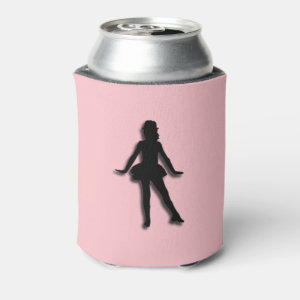 Pink Tap Dancer Can Cooler