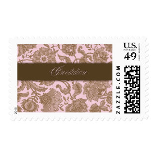 Pink Tapestry - Invitation Stamps