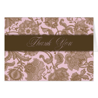 Pink Tapestry - Thank You Card