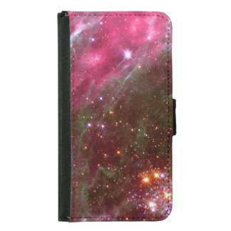 Pink Tarantula Nebula Hubble Space NASA Wallet Phone Case For Samsung Galaxy S5
