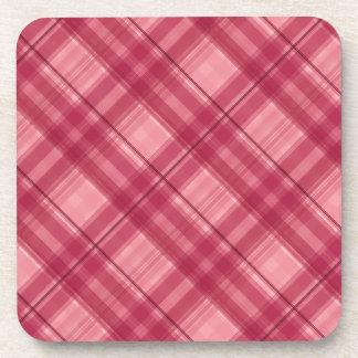 Pink tartan cute coasters