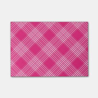 Pink Tartan Plaid Post-it® Notes