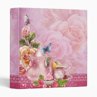 Pink Tea Party Binder