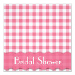 Pink Tea Party Bridal Shower 5.25x5.25 Square Paper Invitation Card